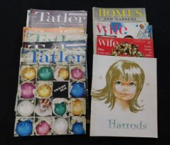 Box The Tatler magazine 1960, 9 issues + Homes and Gardens 1962 issues + Home Magazine 1961, 1 issue