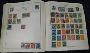 World, mainly used stamp collection in an old Schaubek album and a Strand album (2)