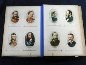 Disintegrating Victorian carte de visite album containing assorted mainly ports