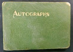 Autograph album compiled late 1940s-early 50s, containing various signatures of actors, actresses,