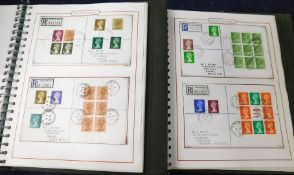 GB 1987-90 collection, 68 Dorset Village postmark collection on registered covers in two albums