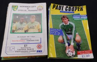 Three boxes Norwich City FC programmes, including quantity aways