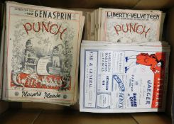 Box Punch, 60 issues, 1920-53 + The Tatler 10 issues 1948-52 + 2 bound vols of Punch