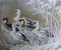 CHARLES FREDERICK TUNNICLIFFE: coloured print ducks, limited edition of 500, numbered (238) and