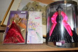 BARBIE MODEL 'HAPPY HOLIDAYS' TOGETHER WITH BARBIE 'SPRING PETALS' AND BARBIE 'GLAMOROUS GALA' ALL