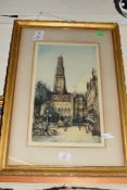 AFTER E SHARLAND, ETCHING 'THE HOTEL DE VILLE', SIGNED IN PENCIL, F/G