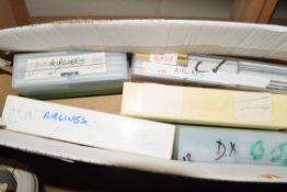 BOX OF 35MM FILM SLIDES AIRLINE INTEREST