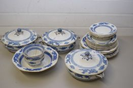 QTY OF BOOTHS AND ROYAL CAULDON DRAGON PATTERN TEA AND TABLE WARES