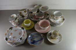 QTY OF MIXED TEA WARES TO INCLUDE SUSIE COOPER, NORITAKE, EDWARDIAN FLORAL DECORATED TEA SET ETC