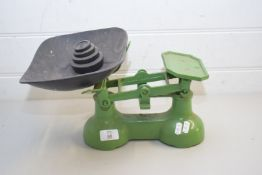 VINTAGE KITCHEN SCALES AND WEIGHTS