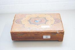VINTAGE LEATHER BOUND JEWELLERY BOX