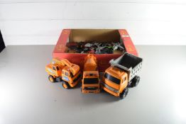 BOX OF MIXED TOY VEHICLES AND PLANES