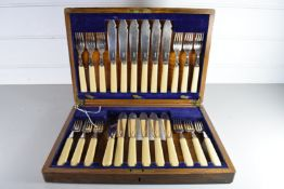 CANTEEN OF SILVER PLATED FISH CUTLERY