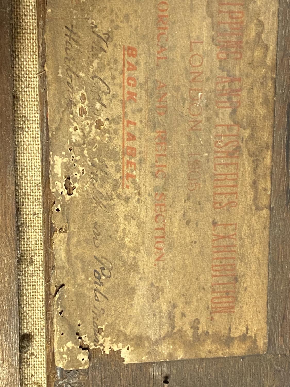 JOHN CHRISTIAN SCHETKY (1778-874) Oil on board, The Odin Hulk and a Man of War, Portsmouth - Image 10 of 19