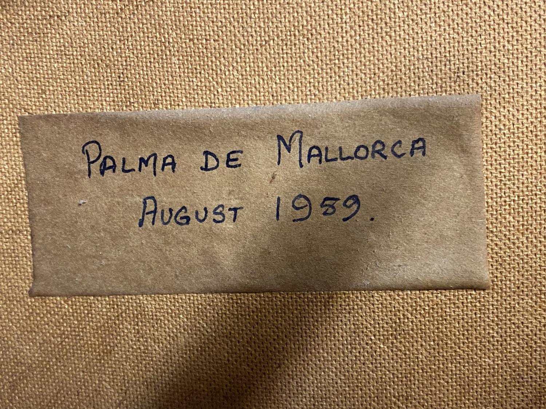 Pair oils on canvas, Impressionist style street scene, one labelled Palma de Mallorca, 1989, - Image 5 of 5