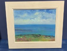 A modern contemporary oil on canvas, Summer Headland, label verso, Jenny Smy, signed verso, 2008,