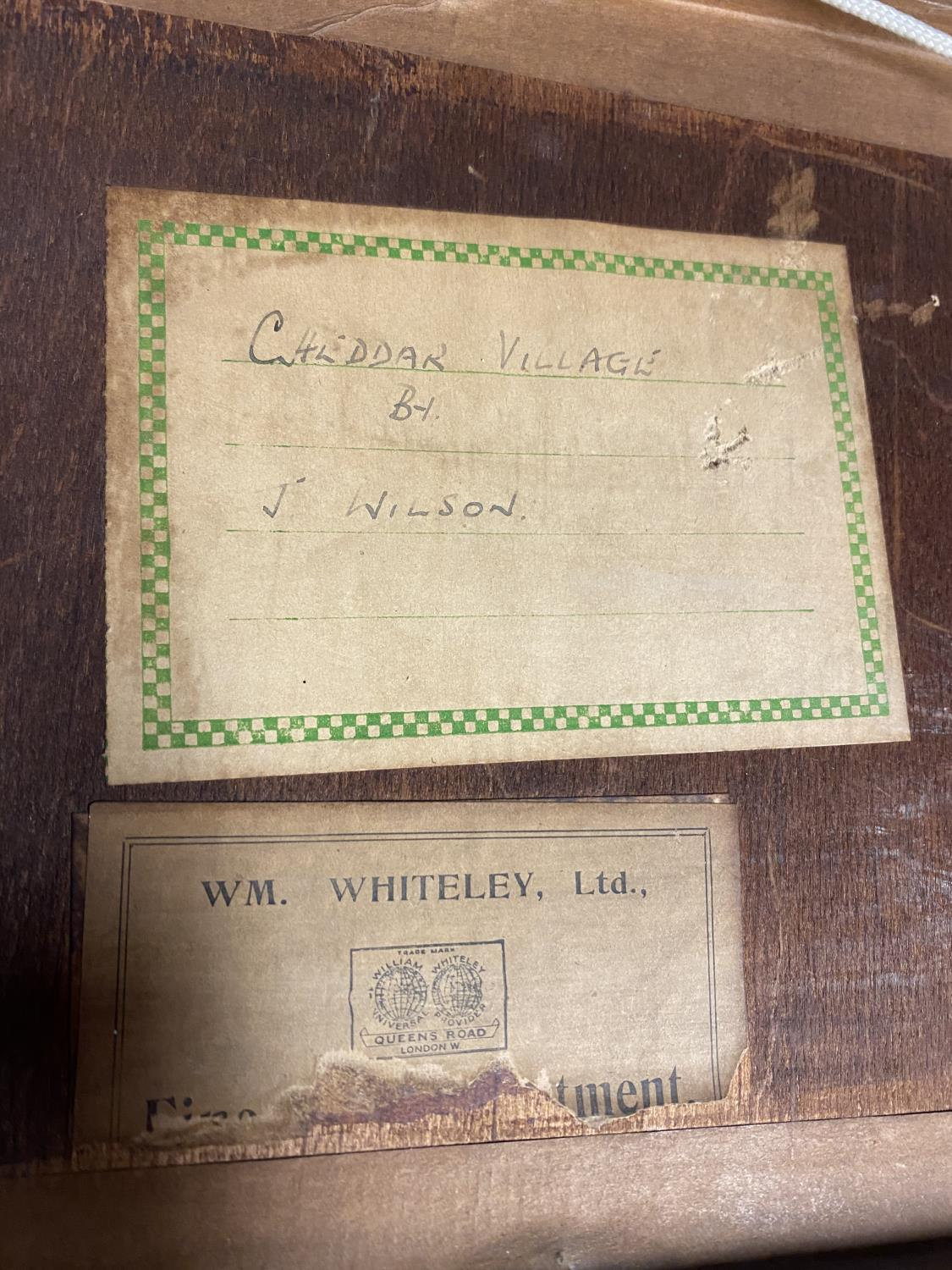 Pair of C19th watercolours, label verso, Cheddar Village and Porlock Village by Moonlight, J Wilson, - Image 6 of 7