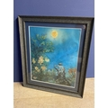 """ANDREW BIRTLES, C20th, mixed media, """"Botanical Gardens """" framed and glazed, signed lower right, 55 x"""