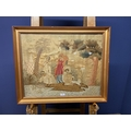 A quantity of various prints and portraits, and old Crewel work pictures Condition - restoration
