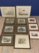 Two watercolours of grouse, one signed Roland Green - 23 x 32cm (condition ok), and signed Annis