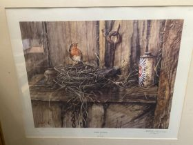 """After B Hanlon, limited edition colour print """"Spring cleaning"""" signed in pencil on mount no. 123/850"""