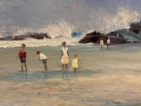 L.TUGWELL, C20th modern oil on wood panel Chapmans Bay, Cape signed lower right, titled verso 45 x