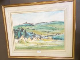 """H WEISSENBORON (1898-1982), watercolour """"Rural Scene"""" signed lower right dated 1892, 32 x 44"""
