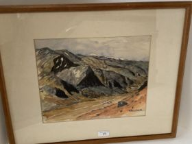 RIICHI TANAKA (1909- 1962) Watercolour drawing landscape in Peru, signed lower right, 25 x 31 cm,