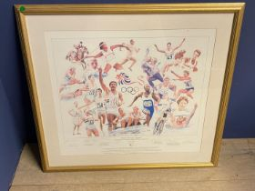 """Modern Colour print """"Windswept"""" West Indies test series year 200 signed in pencil on mount by"""