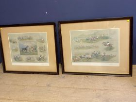"""WITHDRAWN After A Bright, set of 3 colour prints, """" Jenkinstown Grand National"""
