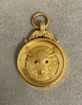 9 ct gold masonic medal by Fatorini and Sons Bradford, 5.8 grams