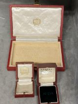 Three jewellery boxes, 2 Cartier, 1 Asprey