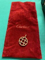 A Cartier pendant, marked Cartier 750/18ct, 20 grams