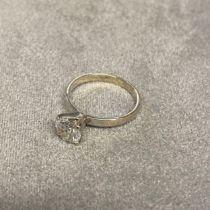 Solitaire diamond ring, in original box