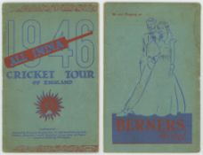 'All India Cricket Tour of England 1946'. Official souvenir brochure for the Indian tour of England.