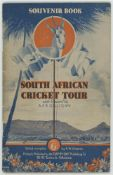 South Africa tour to England 1935. Official souvenir brochure for the South African tour of