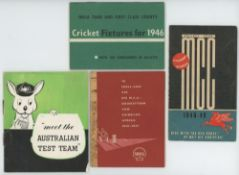 Advertising fixture booklets 1946-1956. Four advertising fixture booklets with colour decorative