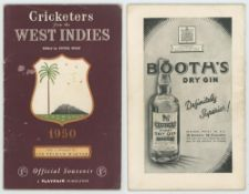 West Indies tour of England 1950. 'Cricketers from the West Indies'. Official Playfair tour guide