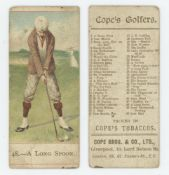 Golf cigarette cards. 'Cope's Golfers' 1900. Cope Bros. & Co., Liverpool. Card no. 48 'A Long