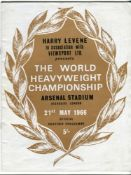 Muhammad Ali v Henry Cooper 1966. Official programme for the World Heavyweight Championship fight
