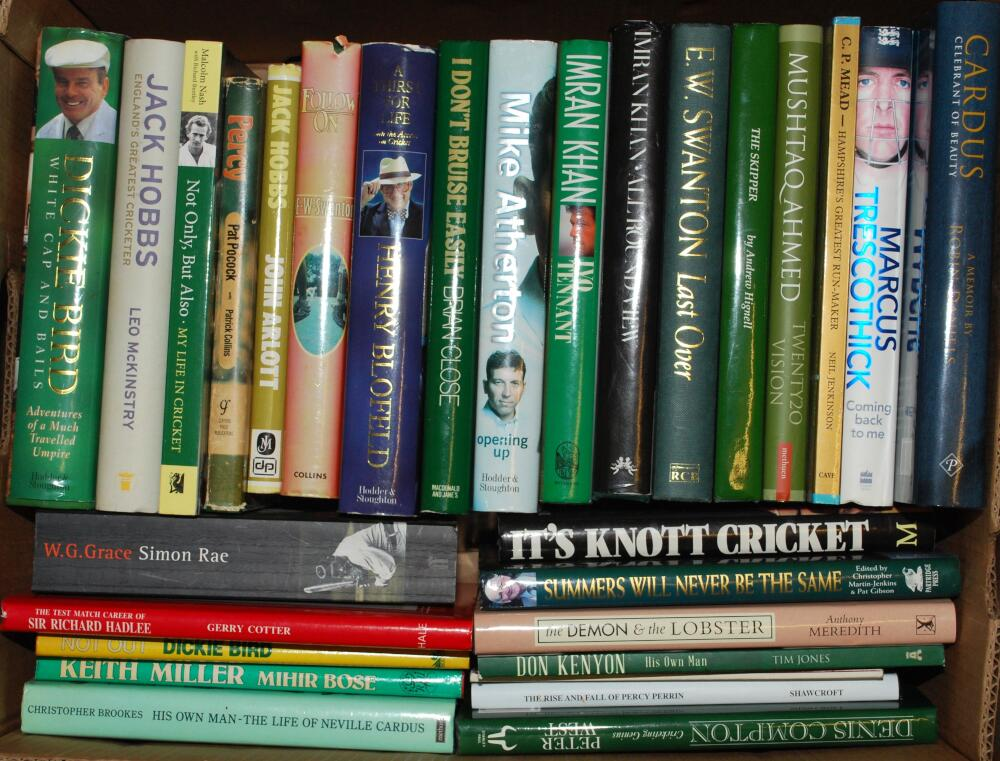 Cricket biographies. A good selection of fifty six mainly modern hardback biographies, with some - Image 2 of 2