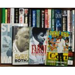 Cricket biographies. A good selection of fifty eight modern biographies, the majority hardbacks with