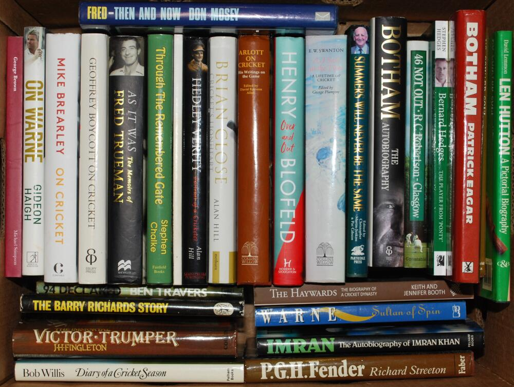 Cricket biographies. A good selection of fifty eight modern biographies, the majority hardbacks with - Image 2 of 2