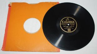 Don Bradman 1930. Rare and original 78 rpm vinyl 'Columbia Gramophone Co' record with recording by