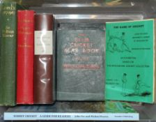 Mixed cricket books. Eight titles including two by Pelham Warner, 'Lord's 1787-1945' 1946, and '
