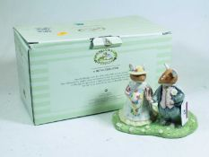 A Royal Doulton Brambly Hedge figure group The Bride & Groom, h.12cm, boxedCondition report: Good,