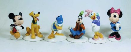 A set of six Royal Doulton Disney figures The Mickey Mouse Collection, to include Mickey and