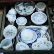 A box of miscellaneous china, to include Wedgwood 1977 Royal Silver Jubilee tankard, Wedgwood Angela