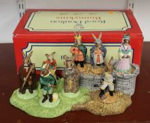 A Royal Doulton porcelain Bunnikins The Robin Hood Collection set, to include the full set of