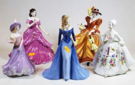 A collection of three Royal Doulton Pretty Ladies figurines, to include Forever Autumn, Amy, and